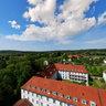 aerial panorama abbey marienmünster,germay