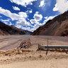Laguna de Aguas Negras, entre Chile y Argentina