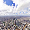 Aerial Panorama of Shinjuku shot from a Helicopter 25000x12500
