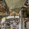 View 2 inside a decommissioned US Navy C-117D, Iceland