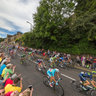 Tour de France 2014 peloton in Ripponden, Yorkshire