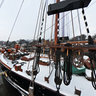 Museumport Oevelgoenne in winter