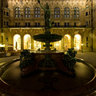 Hamburg Townhall at night - inner courtyard