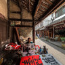 Chengdu - the Ancient Town - under the Pei Ho Street -2a