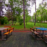 Picnic Tables in Mercur Park (Parcul Mercur), Cluj-Napoca