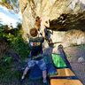 Escalada em rocha na modalidade Boulders no Serrano