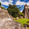 gran jaguar temple in tikal maya ruins. guatemala