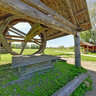 Well with a wheel in the Museum of Wooden Architecture - Suzdal