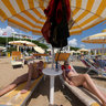 beach relax in Lido di Jesolo in Italy