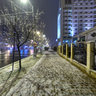 Unirii blvd at night, Baia Mare