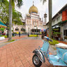 Vespa, Yamaha and the Sultan Mosque Singapore