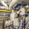 Upper Level of Forward Engine Room on USS Alabama (BB-60)