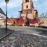 Kiedrich church square with Catholic Church Saint Valentinus