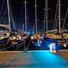 Passeo Maritimo in Palma de Mallorca at night
