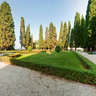 Park of Castello Di Conegliano at sunset
