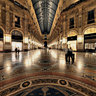 Galleria by night a Milano