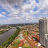 Panoramic view of Londrina. Top of the building malaga