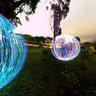 Light sphere graffiti panorama