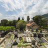 Montenegro 2014. Risan. Church of St. Peter and Paul. Old cemetery.