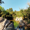 Santadi, Sa Spindua, little natural pool in the creek