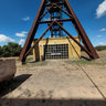 Great coal mine of Serbariu - headframe of mine shaft and hoist house n.1