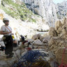 Calanques Start Of The Climbing Route Next To Aiguille De L Eissadon Cassis France