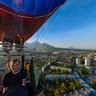 Panorama from the balloon in Pyatigorsk city