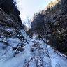Frozen waterfall Diery under Velky Rozsutec