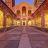 Milan: Basilica of St Ambrogio - Atrium after sunset