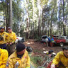 CalFire SDSF 2013 Chainsaw Training class warms up at lunch