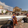 A cellist in Monastiraki