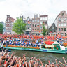 The Dutch Soccerteam in Amsterdam