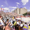 Beach volleyball at the center of Moscow