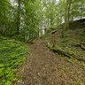 Trail to Himmelsfelsen above Geislingen-Eybach