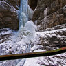 Frosted cascade at Breitachklamm near Oberstdorf