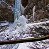 Frosted cascade at Breitachklamm near Oberstdorf