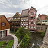 Fisherman's quarter in Ulm - the island at river Blau