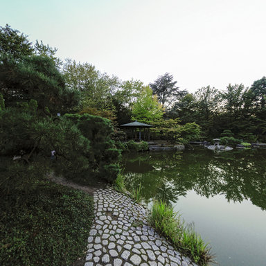 bonn japanese garden at rheinauen. Black Bedroom Furniture Sets. Home Design Ideas