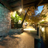 Under the bridge at the San Antonio River walk