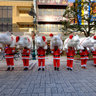 "Santa Claus carries ""a pig causing happiness"" Ⅰ  (Shizuoka City)"