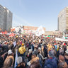 The opposition rally «For honest elections» in Novy Arbat