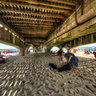 Under Bournemouth Pier.