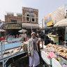 Bread suq, Sana'a, Yemen