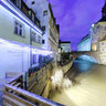 Blick auf das Alte Rathaus in der Regnitz bei Nacht - Bamberg
