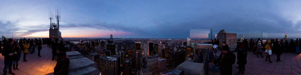 top of the rock observation deck, rockefeller centre 2 NIGHT