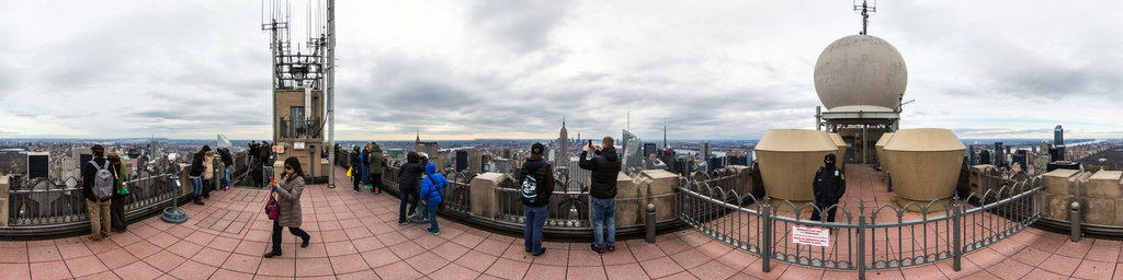 top of the rock observation deck, rockefeller centre DAY