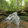Waterfall near Covered Bridge Campgrounds in Catskills Mountains, NY USA