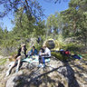 Russia, picnic on an island in Lake Ladoga.