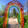 Rainbow gate at the music maze
