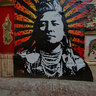 Chief Plenty Coups portrait by VOTAN - Indian Alley, Los Angeles, CA